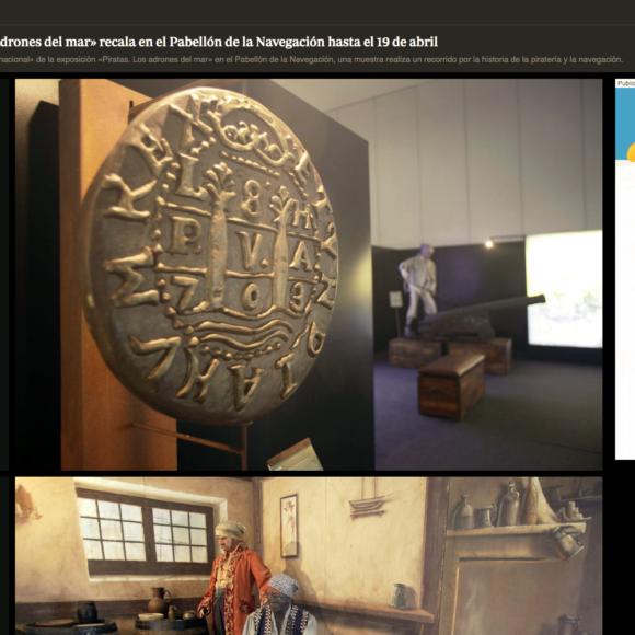 La exposición «Piratas. Los ladrones del mar» recala en el Pabellón de la Navegación hasta el 19 de abril